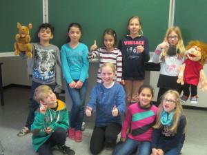 Wir sind die Schülerinnen und Schüler der Englisch Ag an der Grundschule Everswinkel.