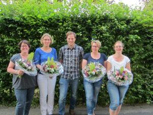 v.l. Frau Everding, Frau Dreyer, Herr Seliger, Frau Rademacher, Frau Kübbeler